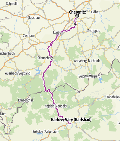 Karte / Unterwegs auf der Karlsroute