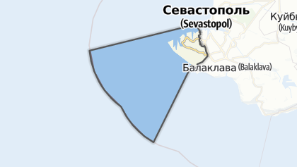 Mapa / Гагарінський район (Севастополь)