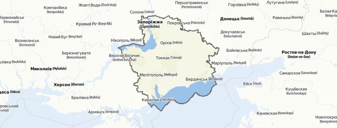 מפה / Запорізька область