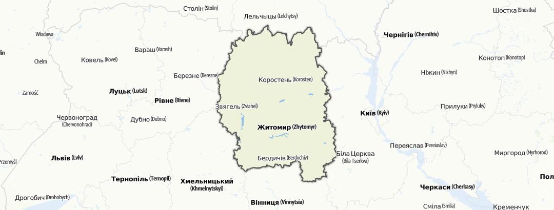 מפה / Житомирська область