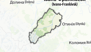 Mapa / Богородчанський район