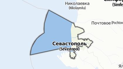Mapa / Нахімовський район (Севастополь)
