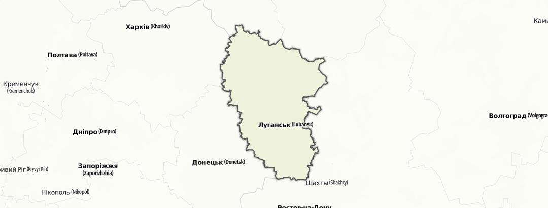 מפה / Луганська область