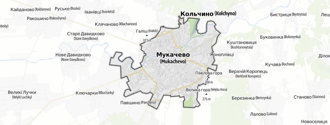 Mapa / Мукачівська міська рада