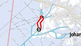 Route der Tour auf einer Karte