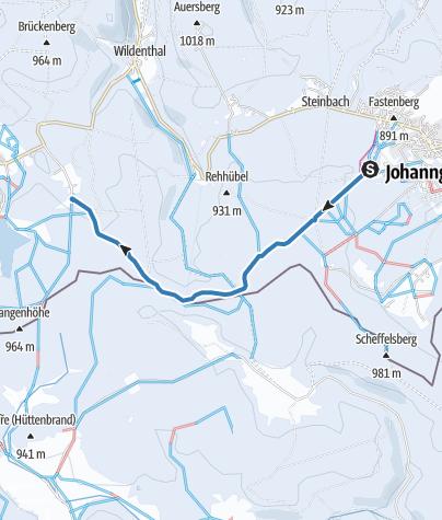 Map / Kammloipe Teilabschnitt Johanngeorgenstadt