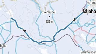 Karte / Kammloipe Teilabschnitt Johanngeorgenstadt