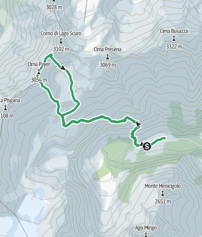 Cartina / Cima Payer dalla val di Genova