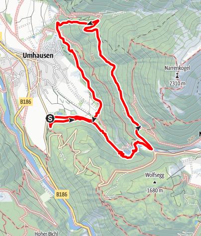 Karte / Wasserläufer Stuibenfall