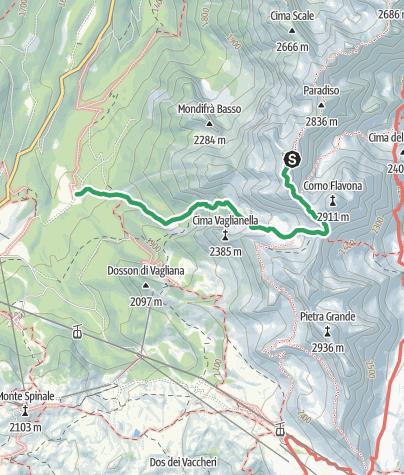 Karte / Cima Sassara