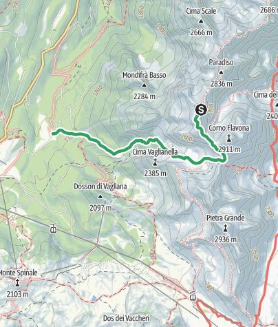 Map / Cima Sassara