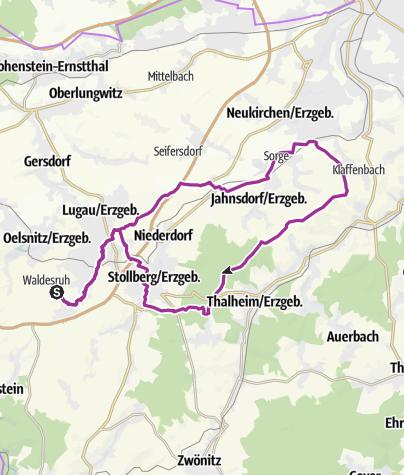 Karte / Würschnitztalweg - gemütlich Radeln