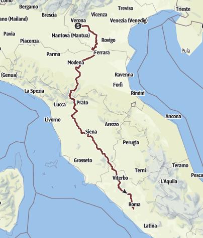 Mapa / Verona - Fucecchio - Roma