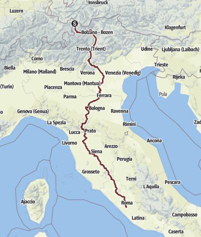 Mapa / Resia - Fucecchio - Roma