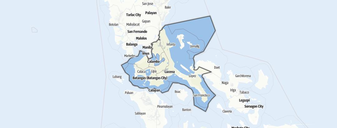 Mappa / Calabarzon