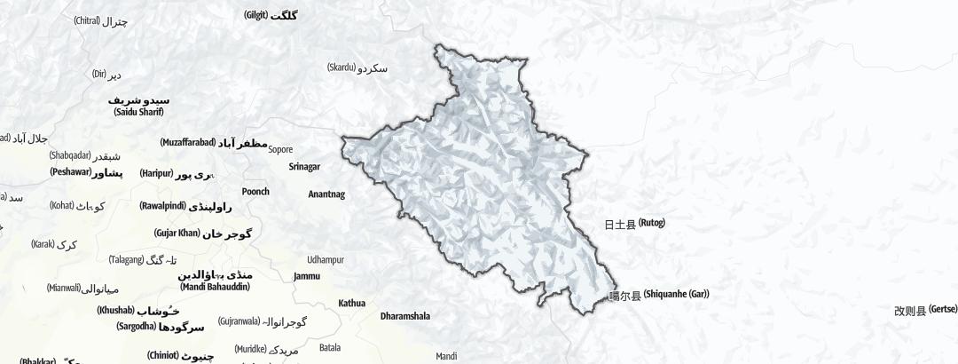 Map / Hikes in Ladakh