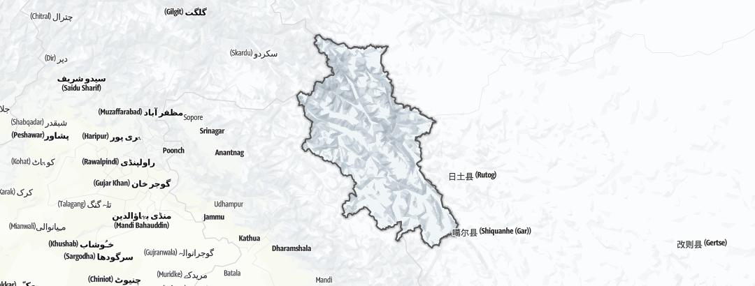 Carte / Circuits de randonnée - Leh District