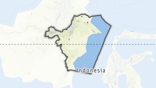 Hartă / Kalimantan Timur