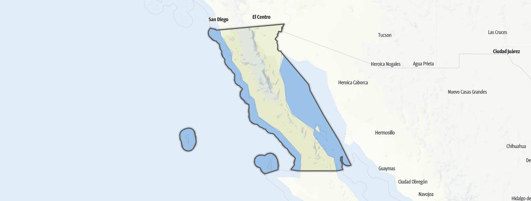 Mapa / Running en Baja California