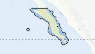 Hartă / Baja California Sur