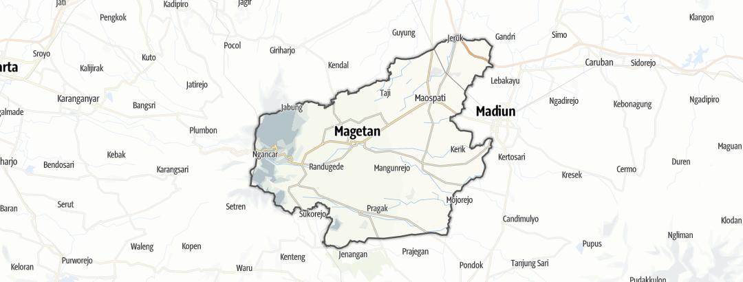地图 / 在Magetan里的徒步