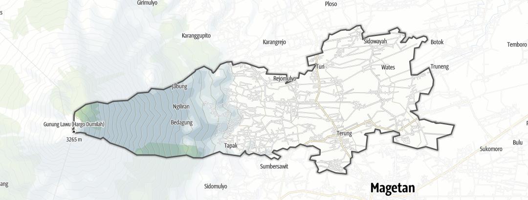 地图 / 在Panekan里的徒步路线