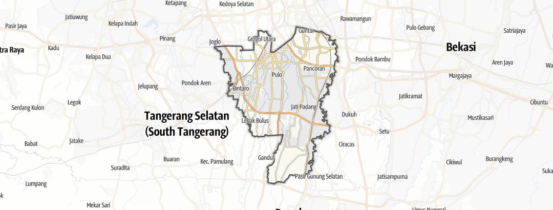 Map / Bike rides in Kota Jakarta Selatan