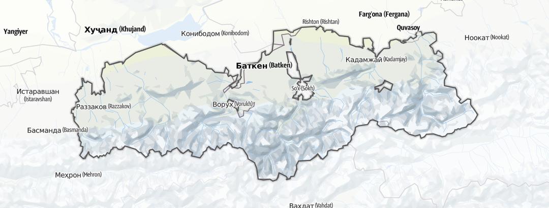 Kart / Gebiet Batken