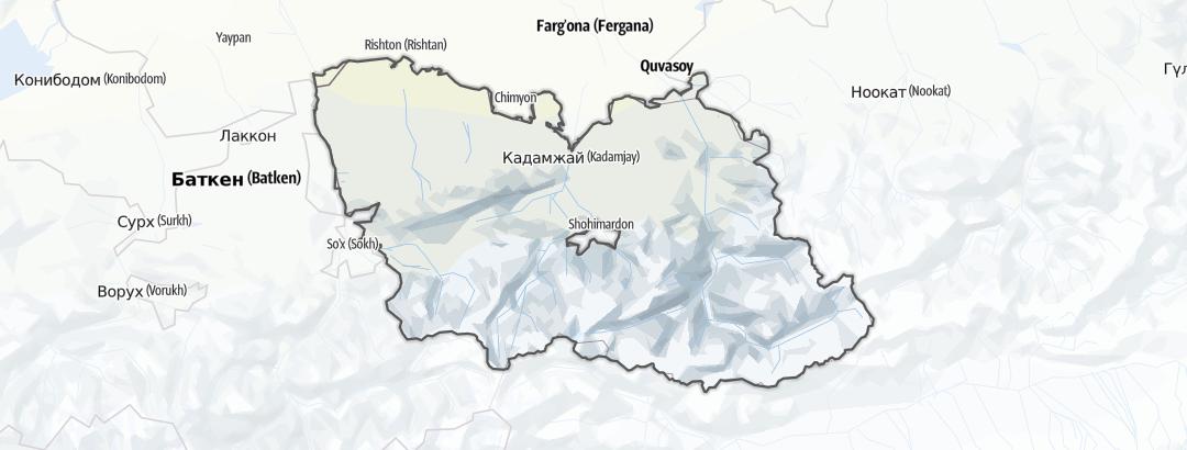 Map / Кадамжай району