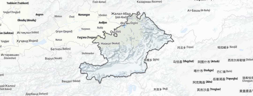 Mapa / Ош облусу