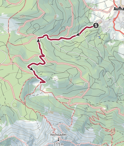 Karte / Steiner Alm über Aufham