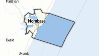 Hartă / Mombasa
