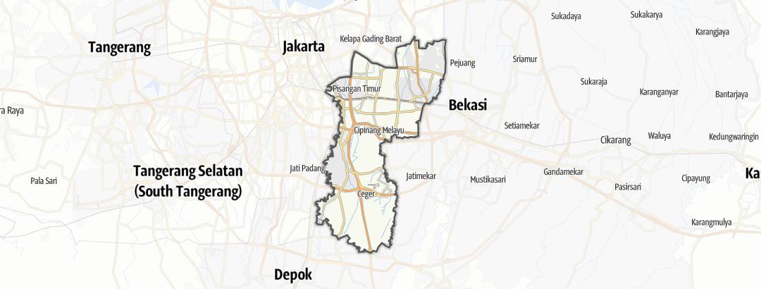 Карта / Езда на велосипеде в Kota Jakarta Timur