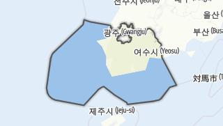 Hartă / 전라남도