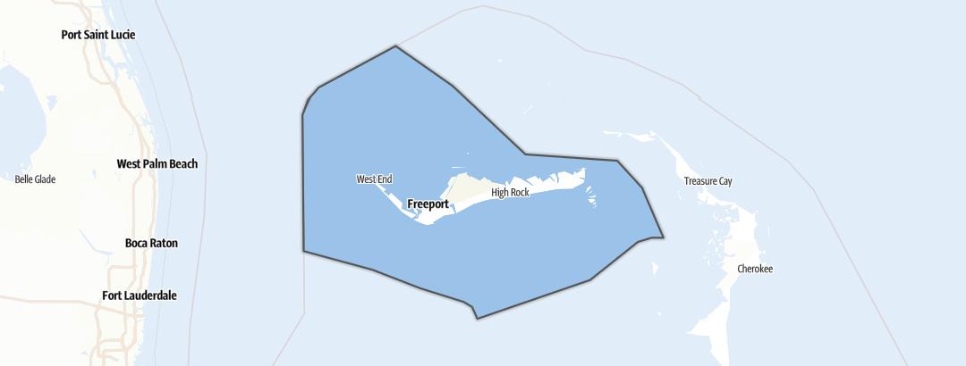 地图 / Grand Bahama