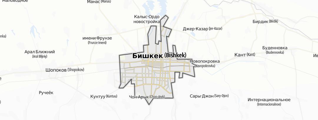 Hartă / Bischkek