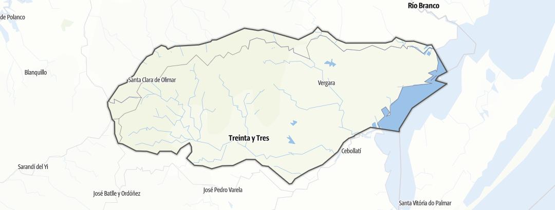 Mapa / Treinta y Tres