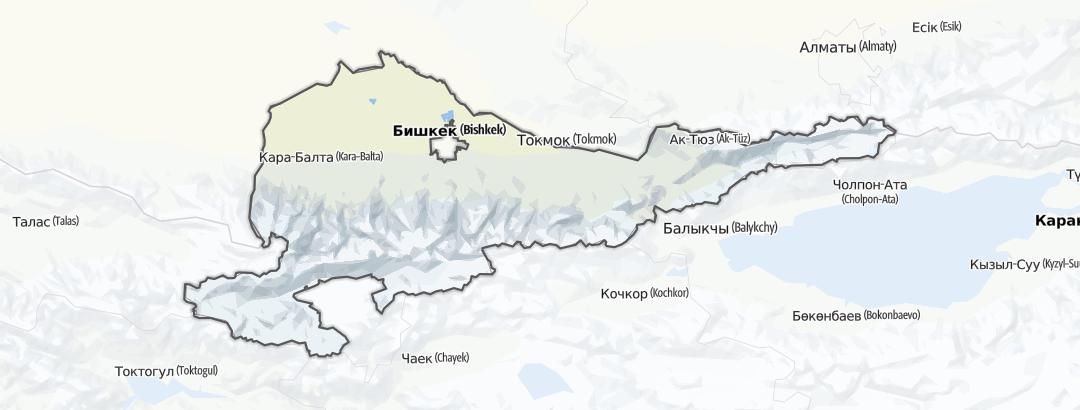 Map / Gebiet Tschüi