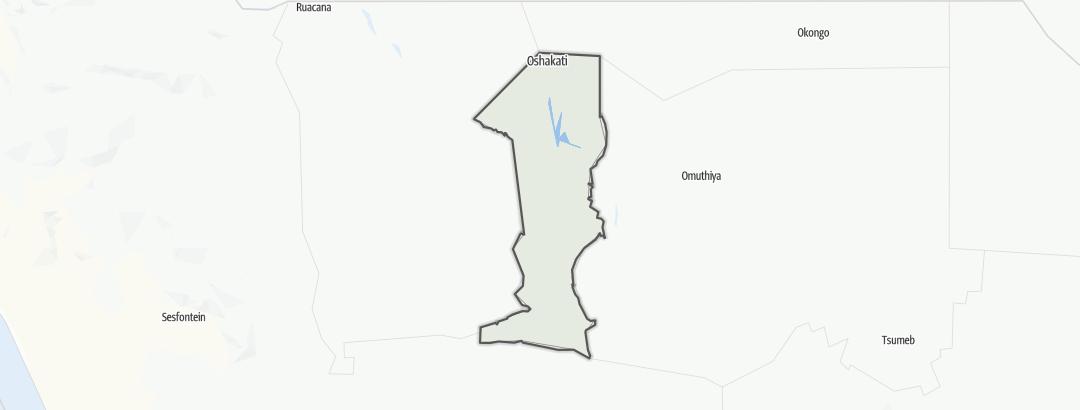 Mapa / Oshana