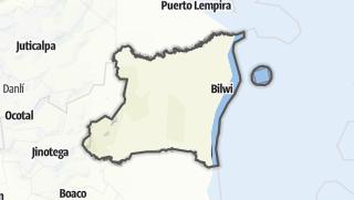Kartta / Región Autónoma de la Costa Caribe Norte