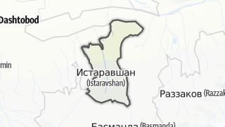 Térkép / Истаравшан