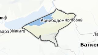 Térkép / Конибодом