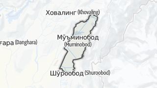 Térkép / Мӯминобод