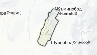 Térkép / Кӯлоб