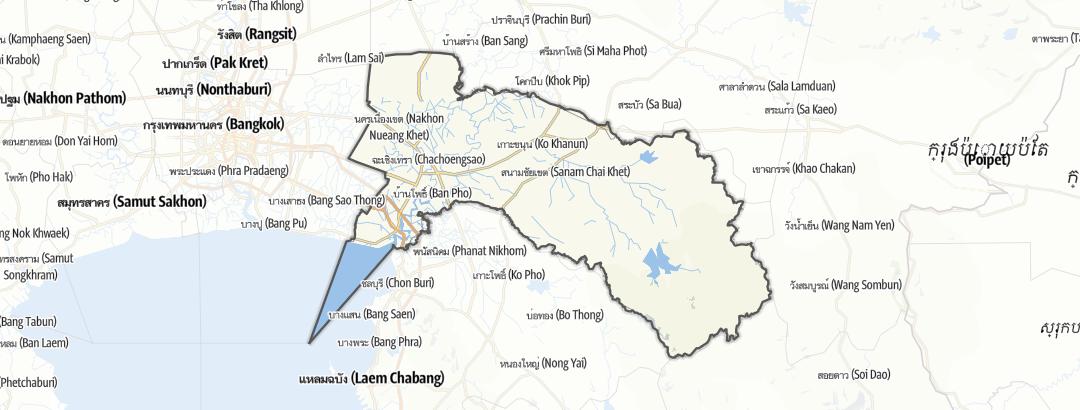 Mapa / Chachoengsao