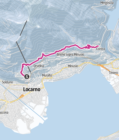 Map / Winter hike Collina Alta