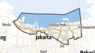 Карта / Kota Jakarta Utara