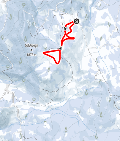 Map / The cross-country skiing trails in the Armentara meadows - Valacia