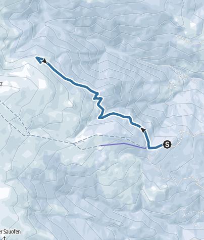 Karte / Saualpe/Schneeschuhwandern: Gießlhütte - Ladinger Hütte - Moarhaltberg - Gießlhütte