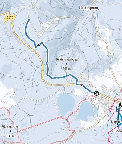 Karte / Altenberg / Oberbärenburg - Skiwanderweg Oberbärenburg (S4)